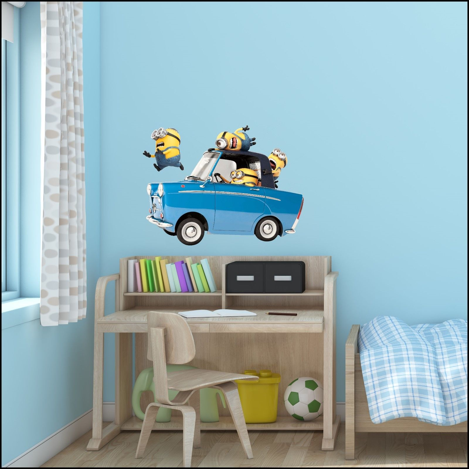 Despicable me 3 minion car cut vinyl wall art sticker 7 for Decor mural xxl