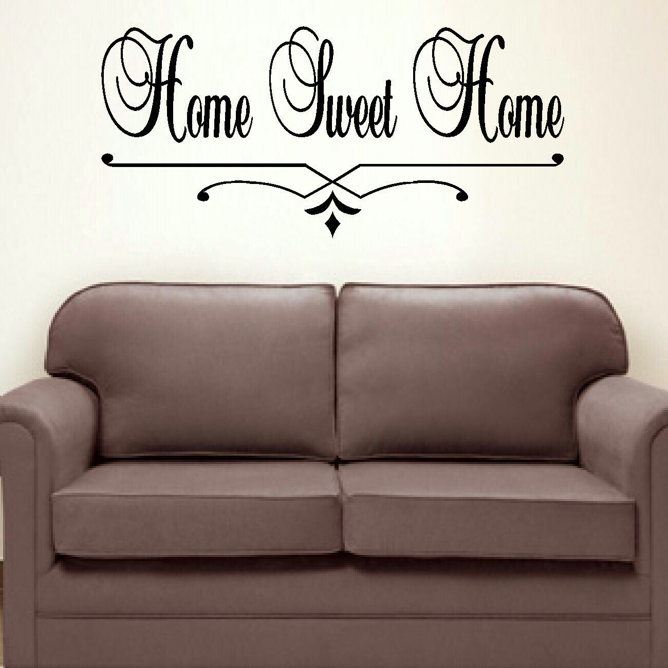Large bedroom quote home sweet home wall art sticker for Bedroom wall art decor