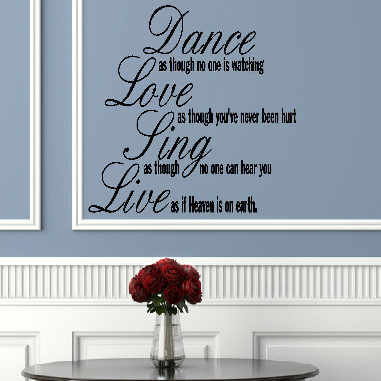 LARGE QUOTE DANCE LOVE SING LIVE WALL ART STICKER TRANSFER DECAL Childrens
