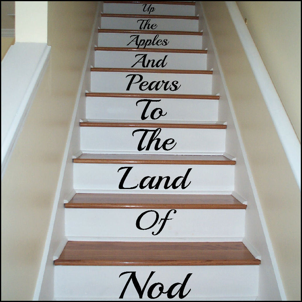 Large Stairs Up The Apple And Pears To Land Of Nod Wall