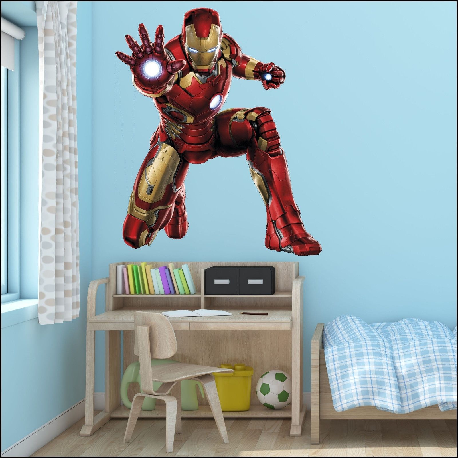 Large-Iron-Man-Avengers-Wall-Sticker-Mural-Art-7-sizes-to ...