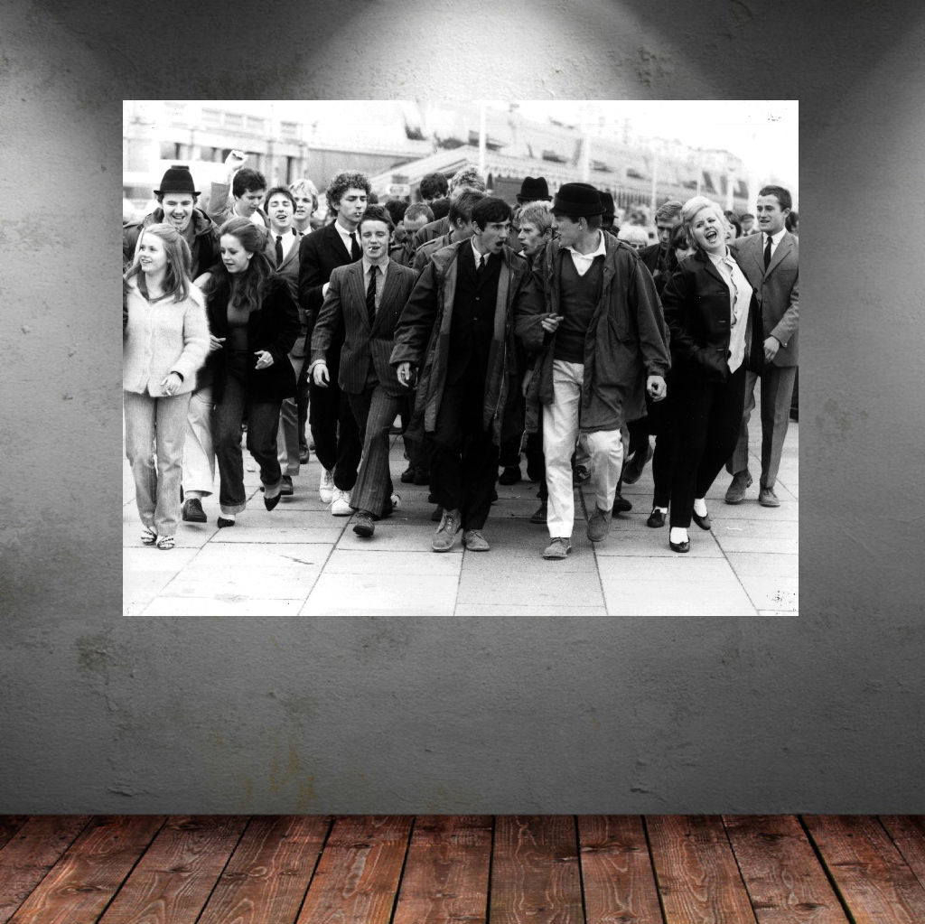 Quadraphenia crowd photo quality wall sticker choose 7 for Crowd wall mural