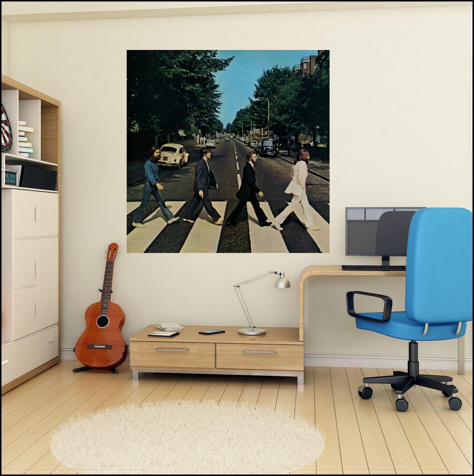 The beatles abbey road album cover photo wall sticker 6 for Beatles wall mural