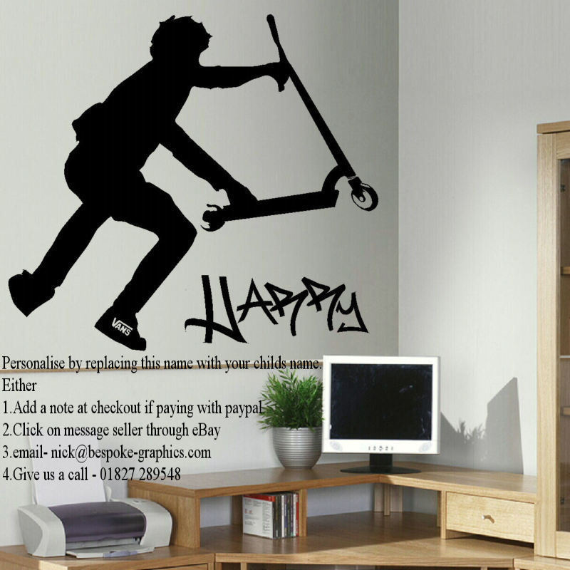 Stunt scooter wall art sticker archives bespoke graphics quick view publicscrutiny Choice Image