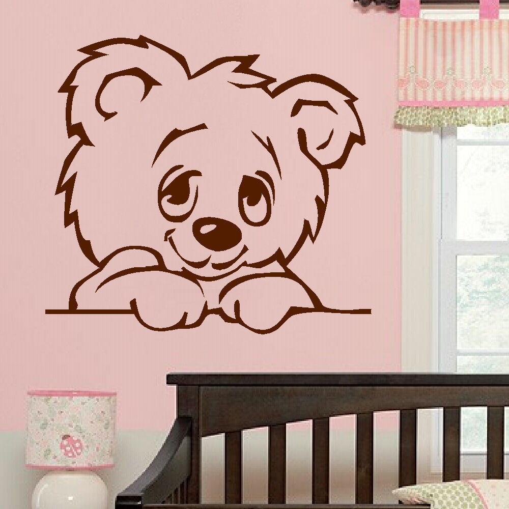 Large Nursery Baby Teddy Bear Wall Mural Giant Transfer Art Sticker