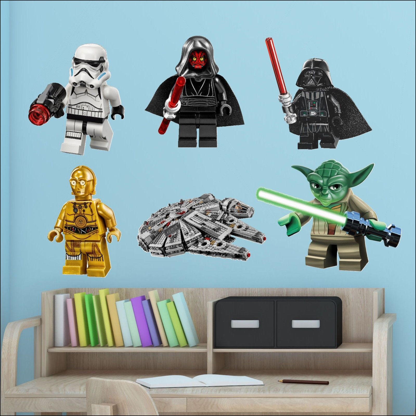 Wonderful Star Wars Lego Men Bedroom Full Colour Wall Sticker Transfer Individual Or  All 6. Teen ... Part 10