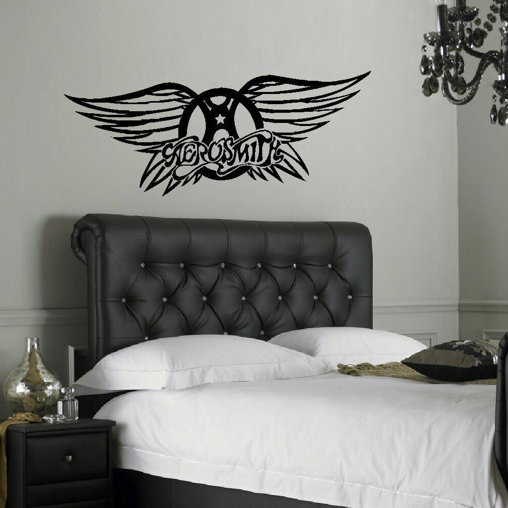 Aerosmith Breathing Quote Vinyl Wall Art Sticker Decal: LARGE AEROSMITH BAND LOGO WALL STICKER NEW UK TRANSFER