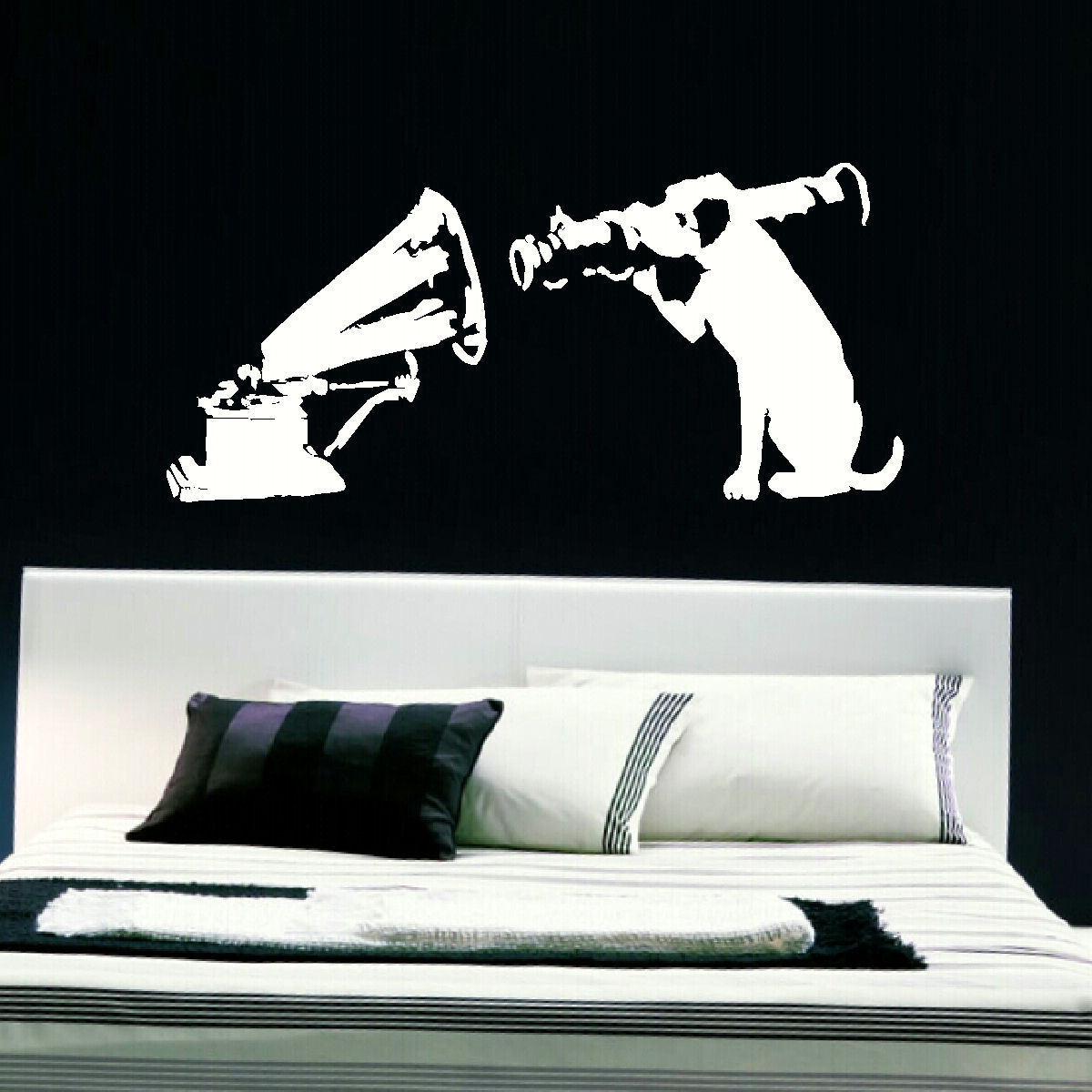 LARGE BANKSY PANDA ART BEDROOM WALL MURAL STENCIL STICKER TRANSFER VINYL DECAL