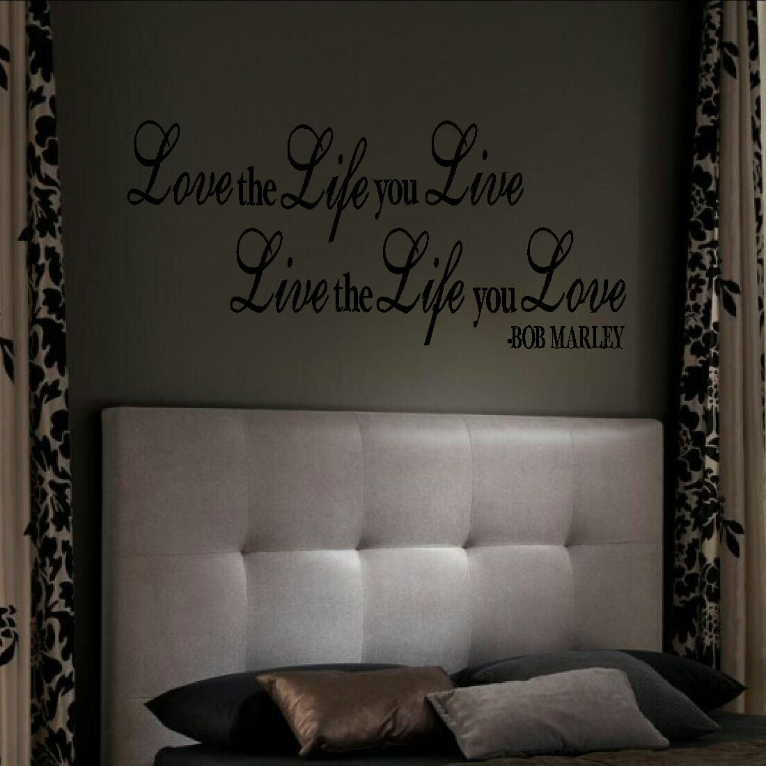 Love Quotes About Life: LARGE-QUOTE-BOB-MARLEY-LOVE-THE-LIFE-YOU-LIVE-WALL-ART