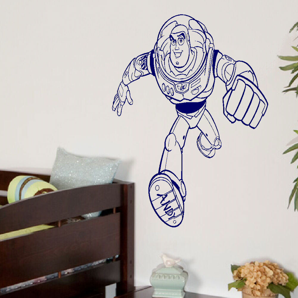 LARGE TOY STORY BUZZ LIGHTYEAR CHILDRENS BEDROOM WALL ART MURAL STICKER DECAL Bespoke Graphics