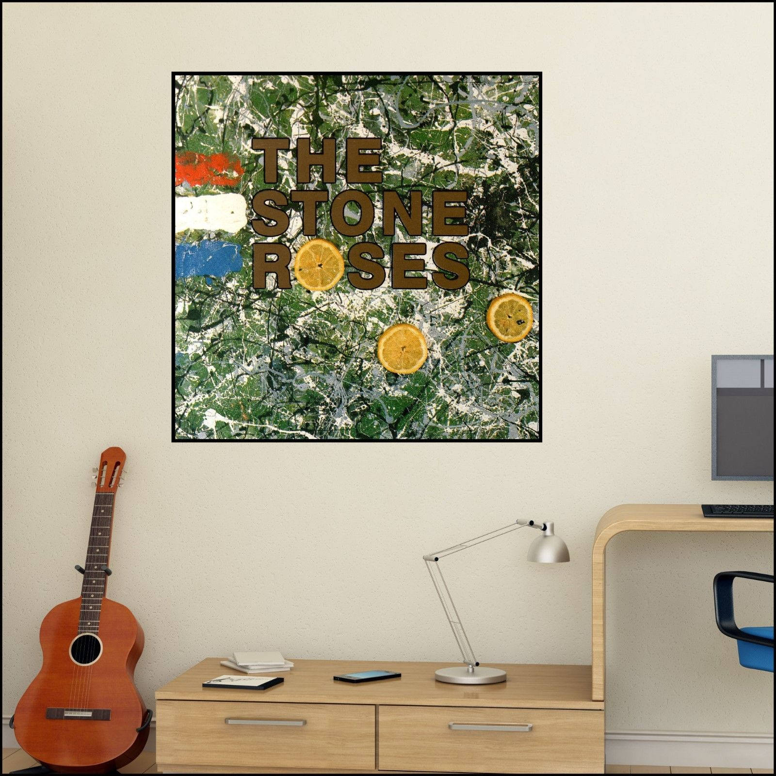 The Stone Roses Album Cover Art Wall Sticker 6 Size Xl 1 2m Unique Gift Man Cave Bespoke Graphics