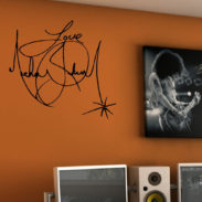 Charity Wall Art Sticker, Iconic Signatures Wall Sticker Part 70
