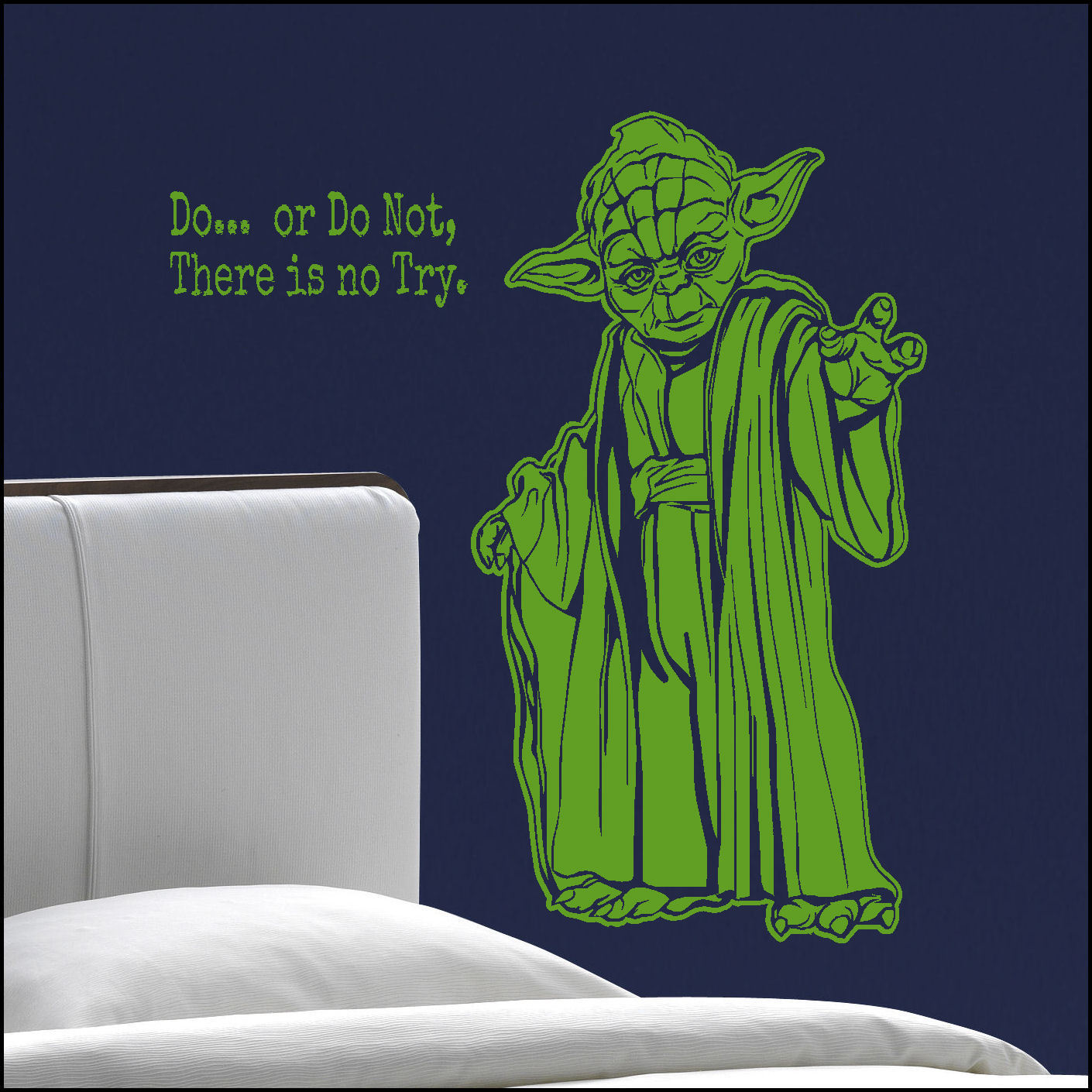 Star ...  sc 1 st  Bespoke Graphics & Large Starwars Bedroom Yoda Do Not No Try Wall Sticker Trasfer Cut ...
