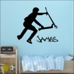 Stunt Scooter teenage bedroom wall decal