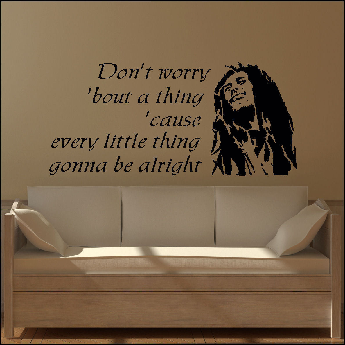 Dont Worry Lyrics Song Download: Bob-Marley-Large-wall-art-sticker-Music-lyrics-dont-worry