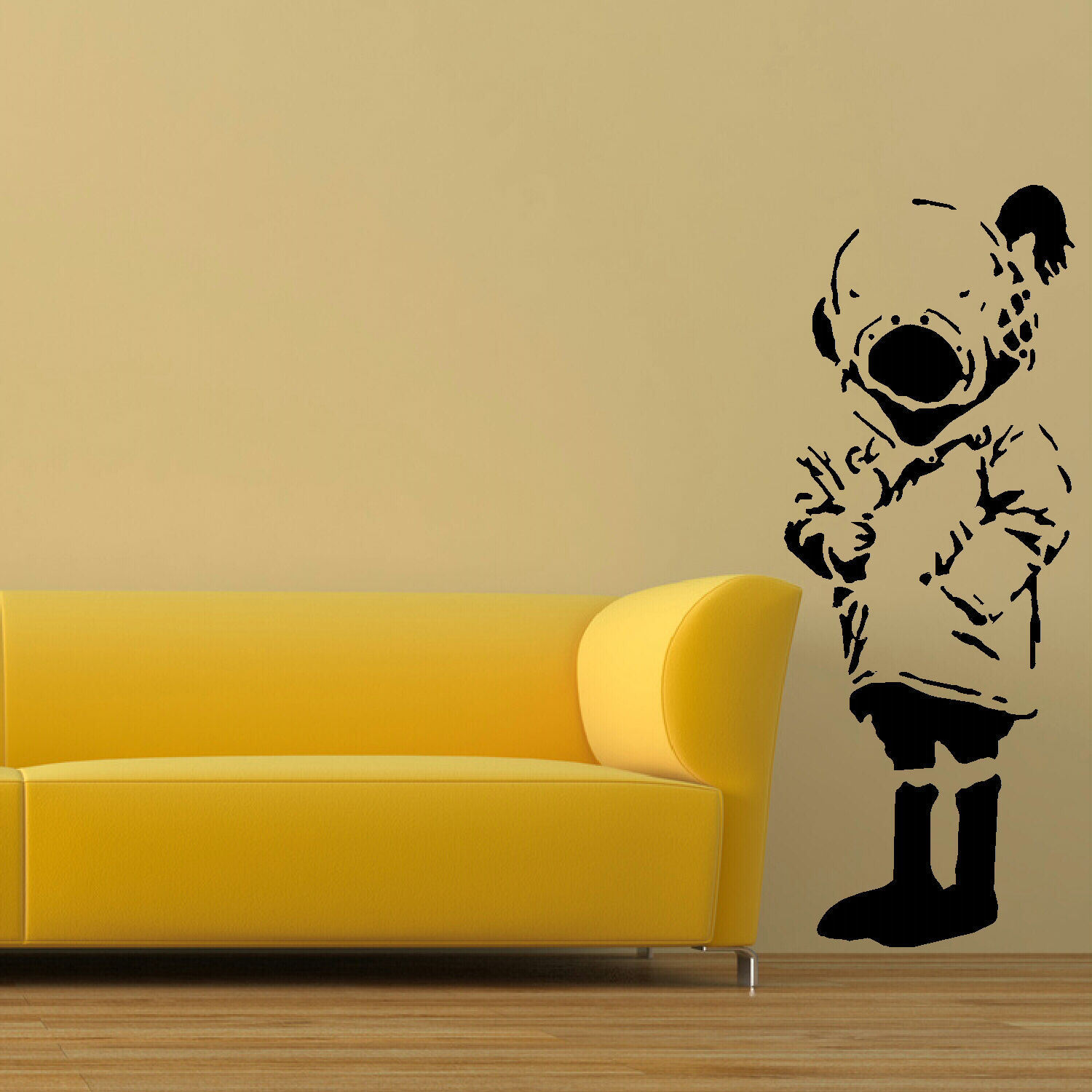 LARGE WALL STICKER BANKSY DIVER GIRL LIFE SIZE BEDROOM ART UK ...