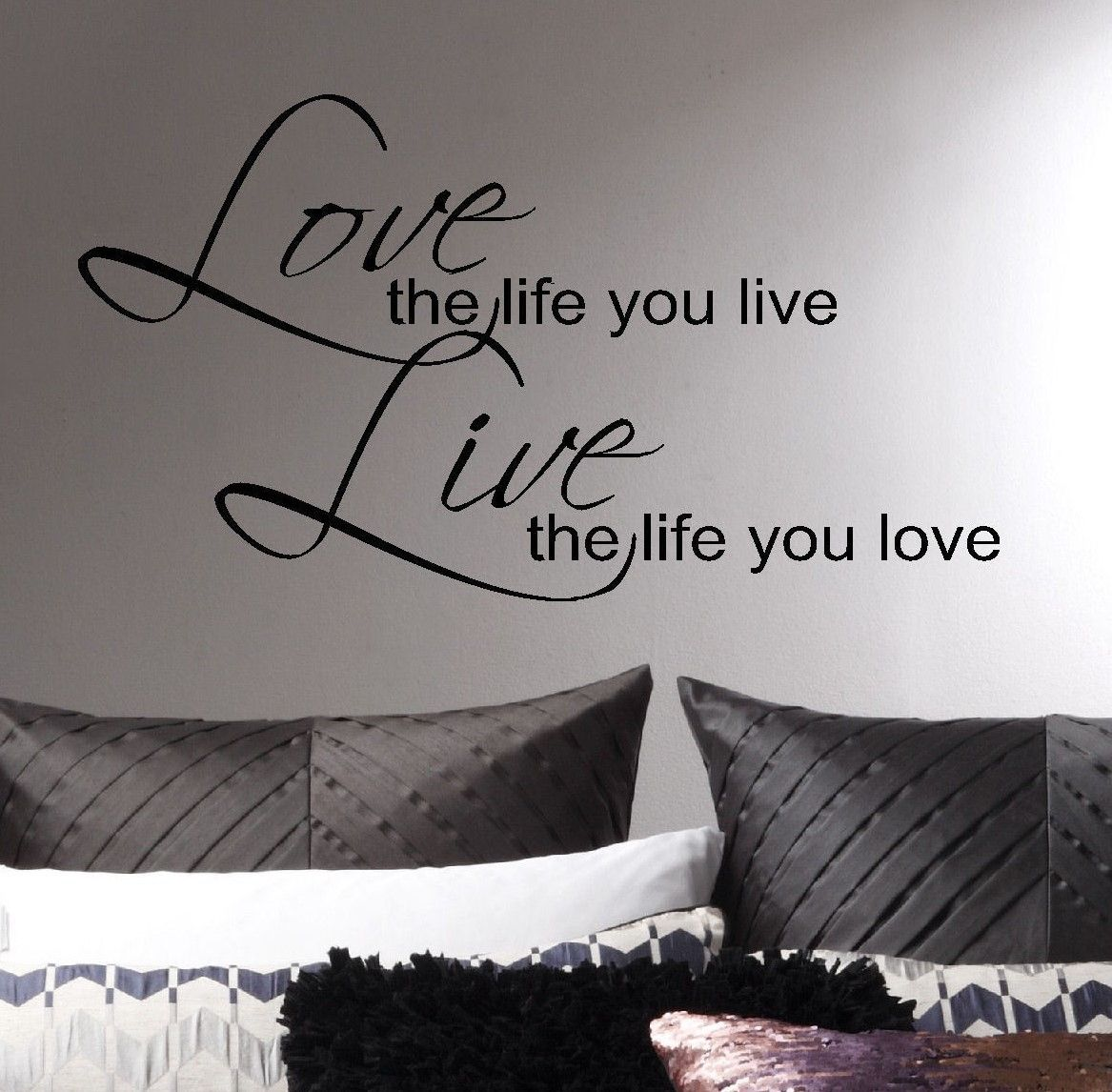 Large Bob Marley Quote Wall Art Sticker Love Life Live Matt Vinyl Transfer Decal Famous Quotes