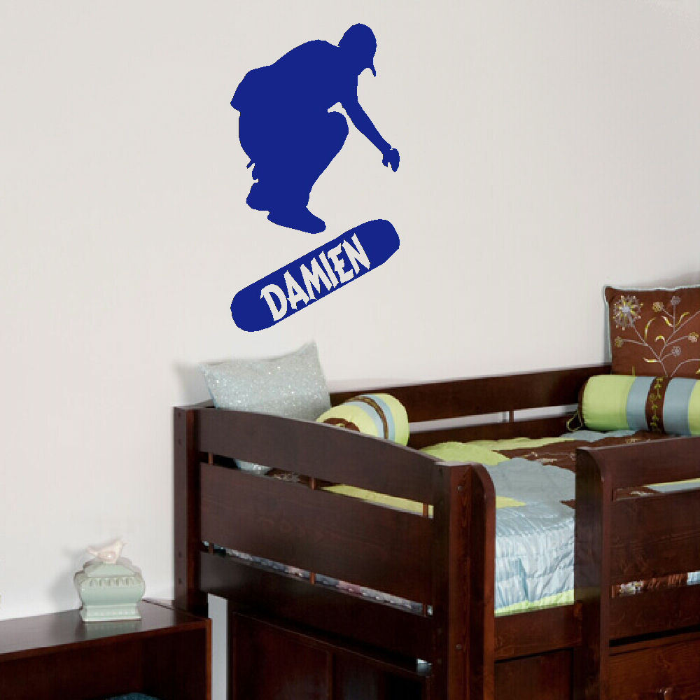 Personalised Skate Board Wall Sticker For Teenage Bedroom Easy Transfer  Vinyl. Childrens ... Part 73