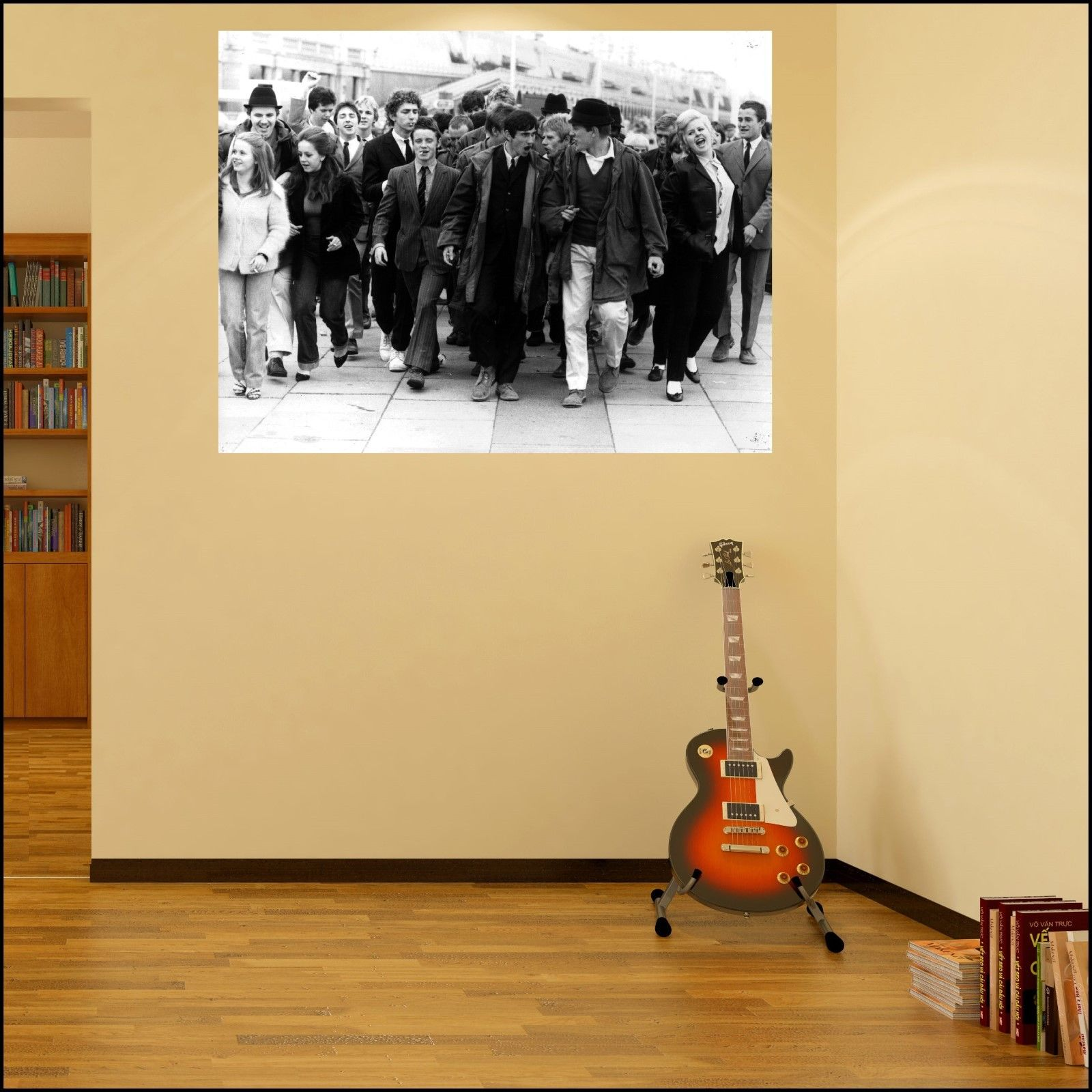 Quadraphenia film crowd photo wall art sticker choice 7 for Audience wall mural