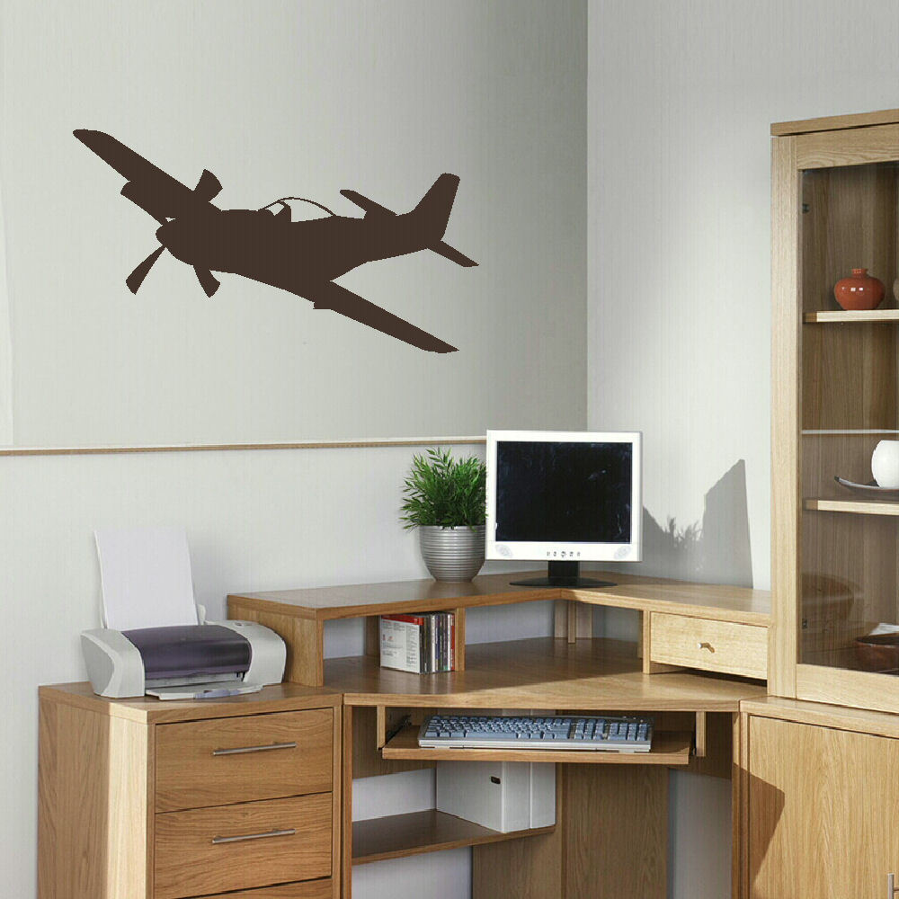 Large aeroplane plane childrens wall bedroom mural sticker for Aeroplane wall mural