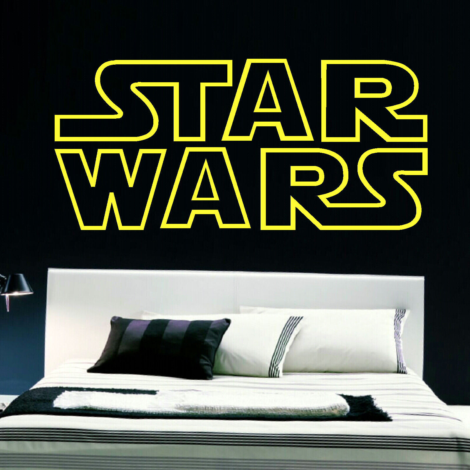 STAR WARS BEDROOM LOGO WALL STICKER IN QUALITY CUT MATT VINYL ART TRANSFER.  New ... Part 46