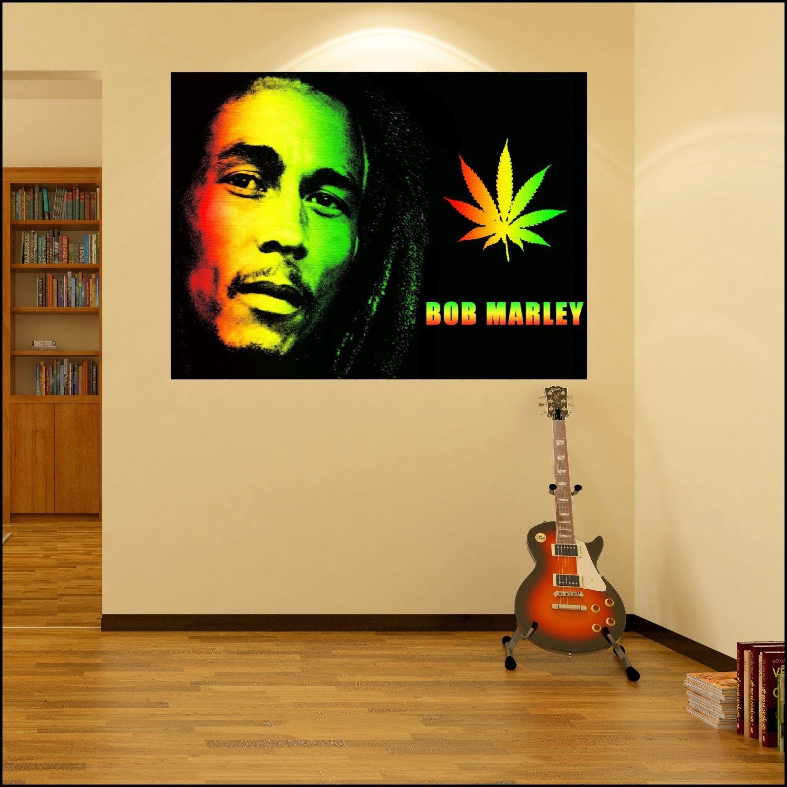 Bob-Marley-Colour-Photo-Vinyl-Wall-Art-Sticker-6-sizes-A4-XXL-12m ...