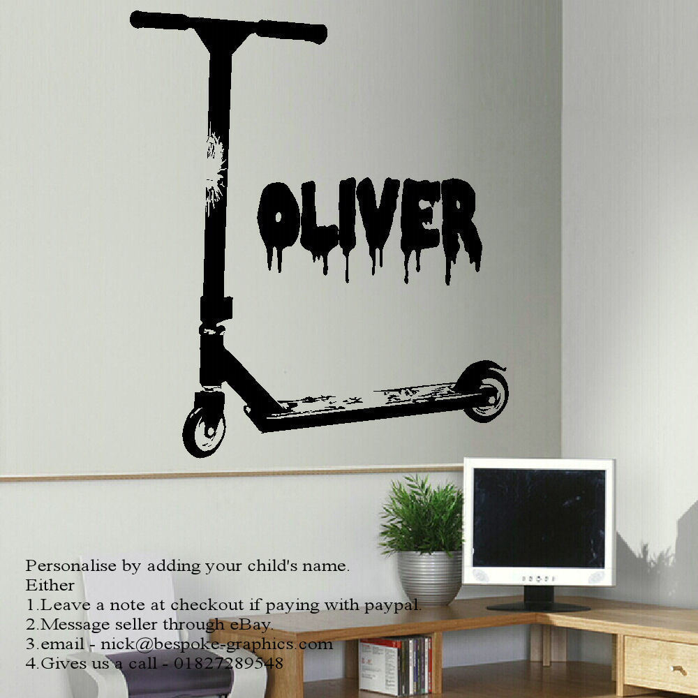 Stunt scooter wall art sticker archives bespoke graphics stunt scooter wall art sticker publicscrutiny Choice Image