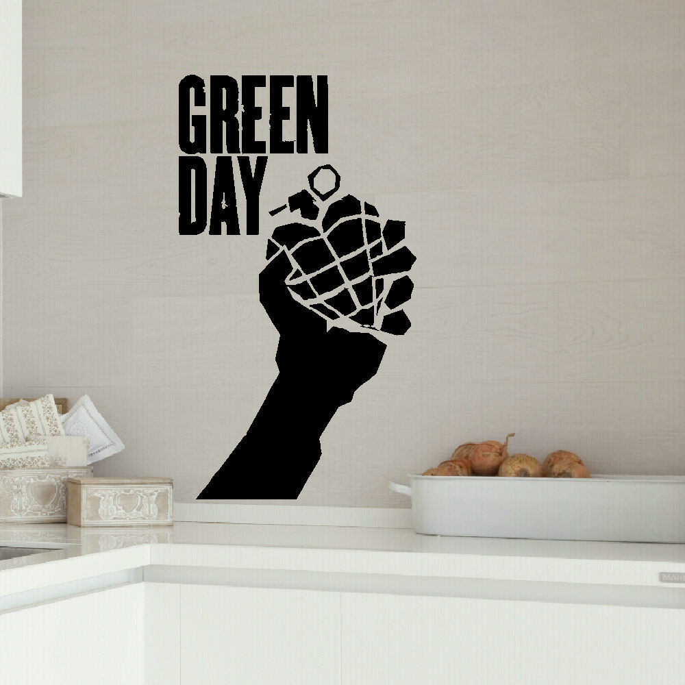 Green day large kitchen bedroom wall mural giant art - Sticker geant mural ...