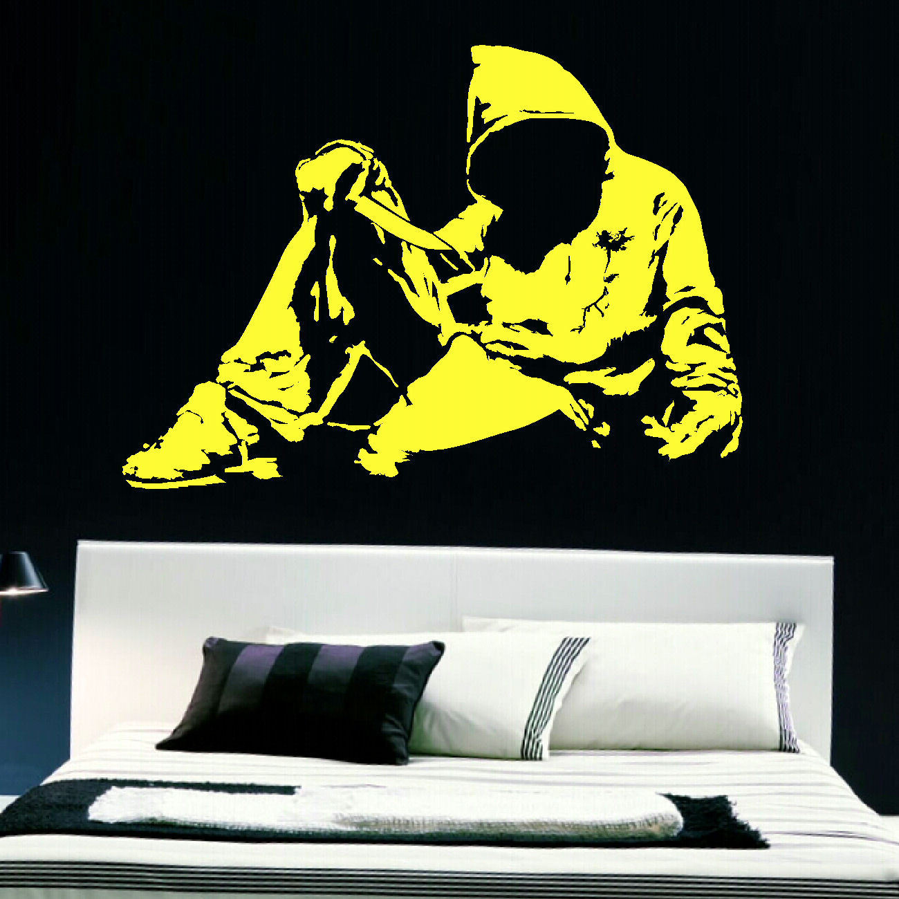 Awesome Banksy Wall Art Stickers Embellishment - Wall Art ...