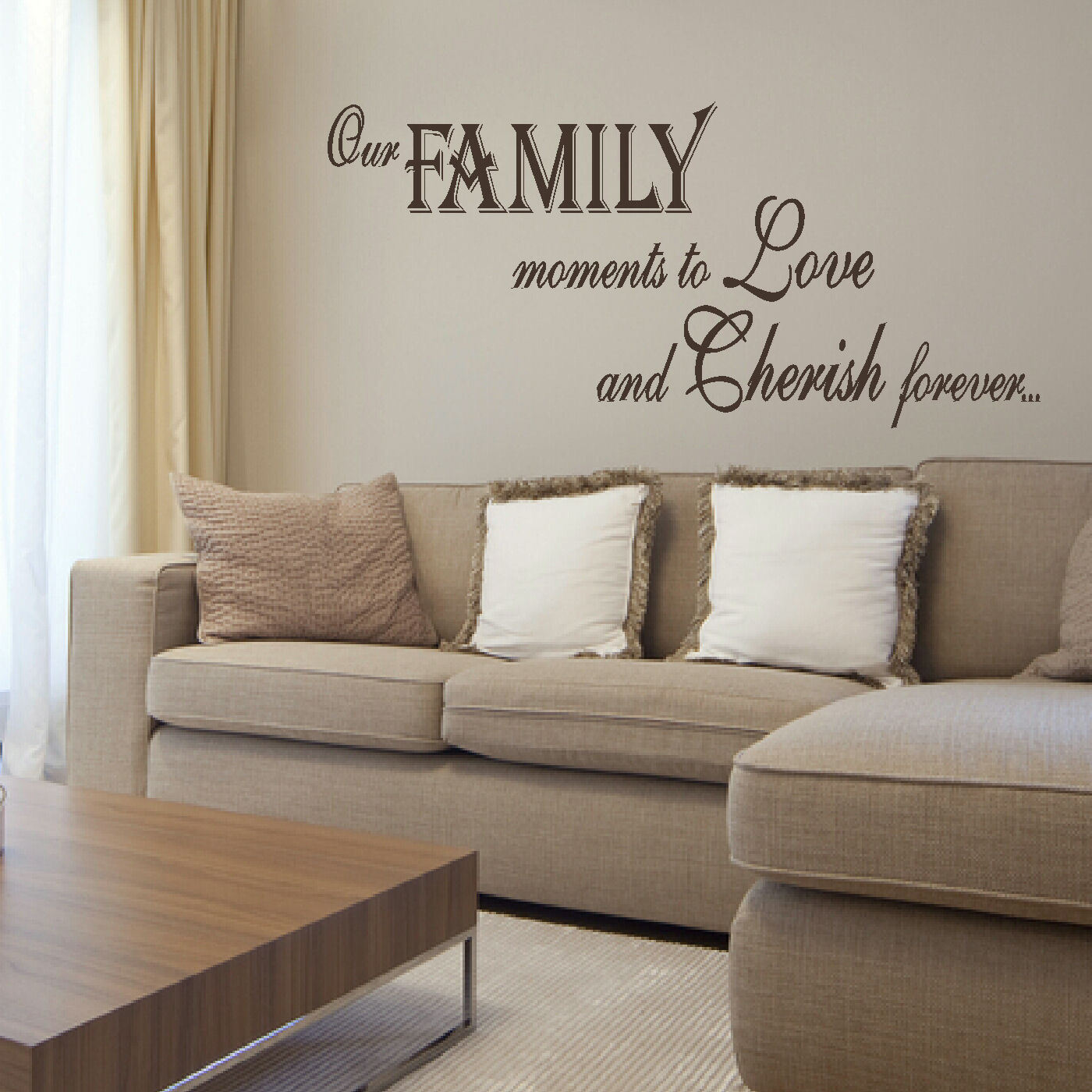 Large bedroom quote family love giant wall art sticker transfer quote amipublicfo Choice Image