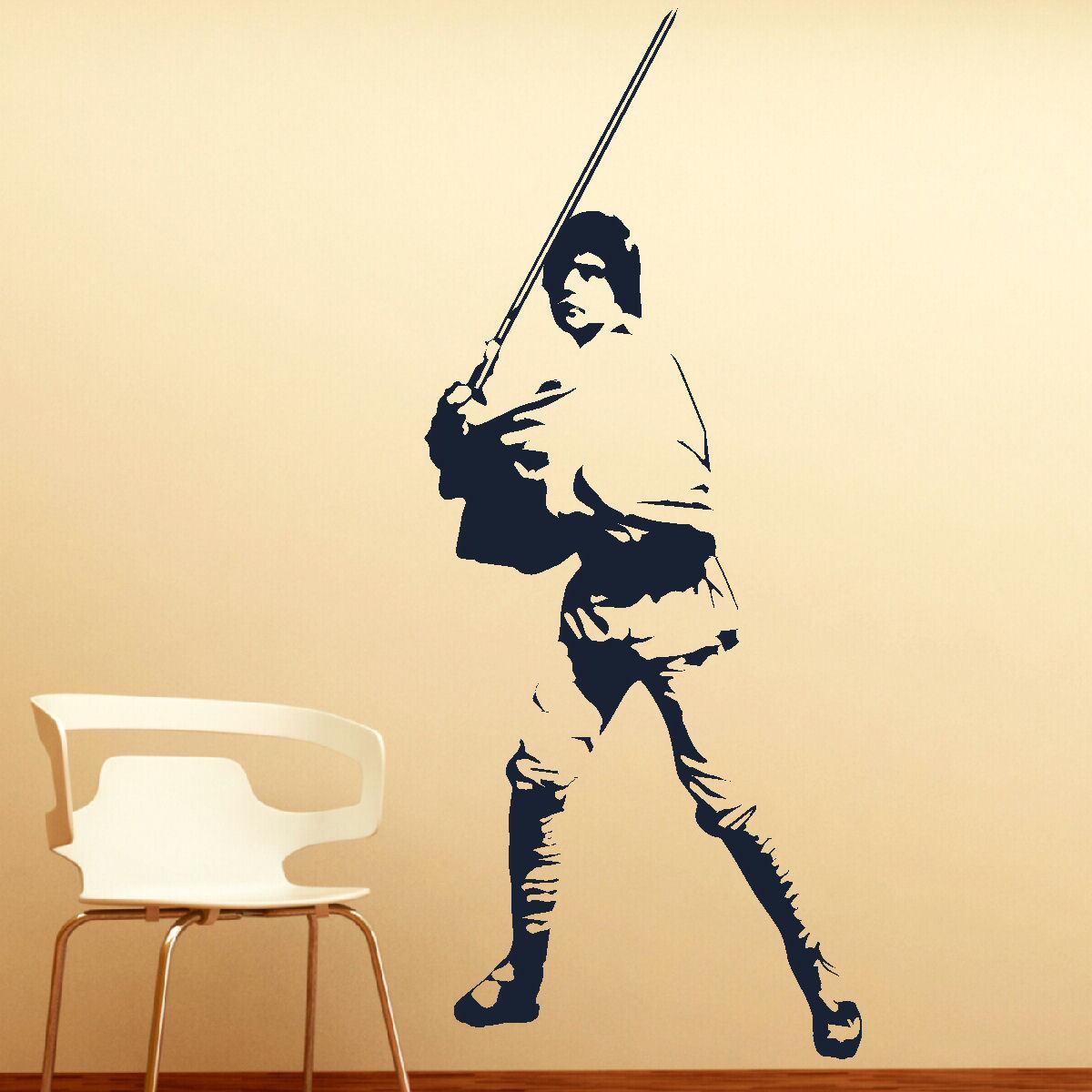 LARGE LUKE SKYWALKER STAR WARS > 6FT! WALL ART BEDROOM MURAL GIANT ...