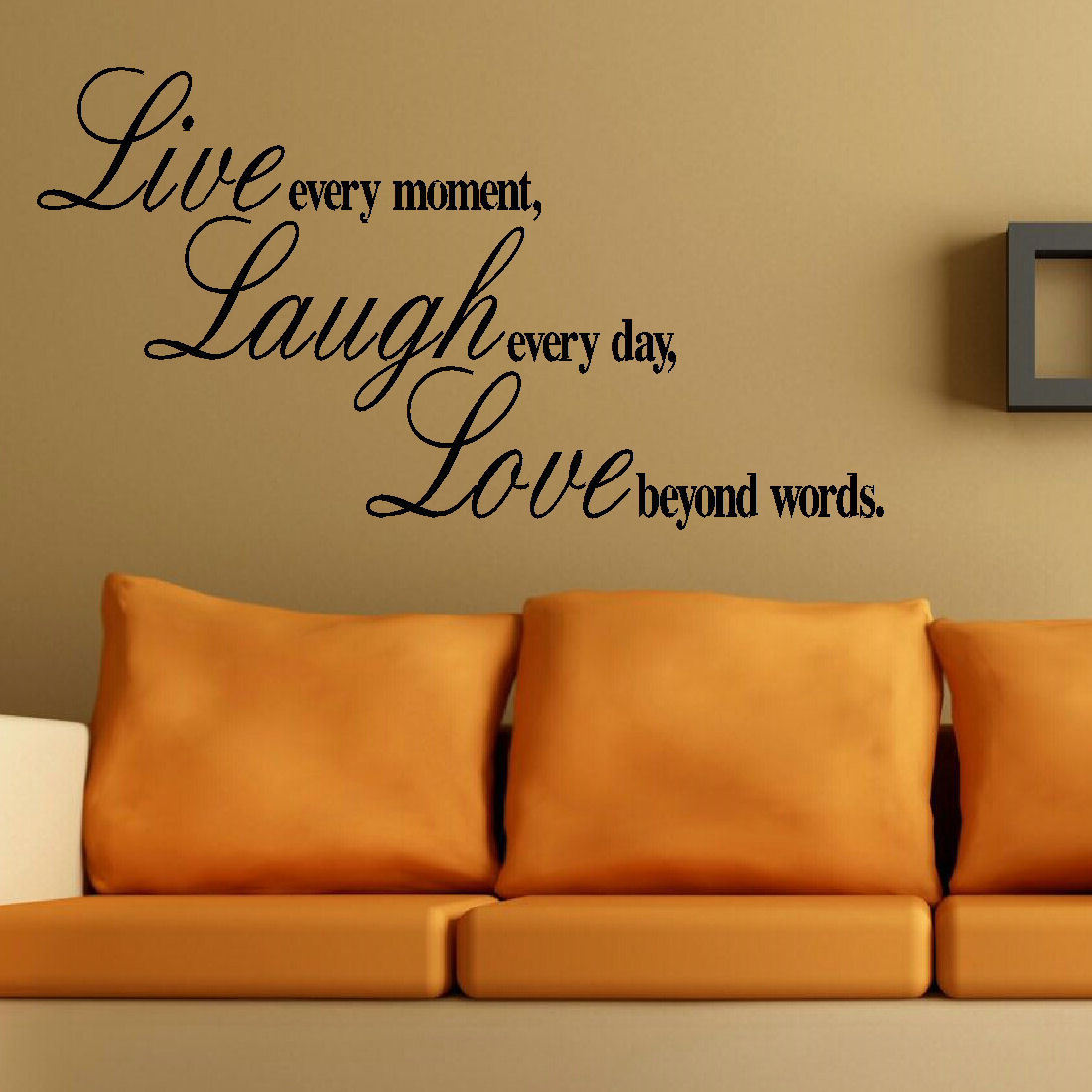 LARGE WALL QUOTE LIVE LAUGH LOVE BEYOND WORDS MURAL STICKER ART TRANSFER  DECAL. Quote ... Part 86