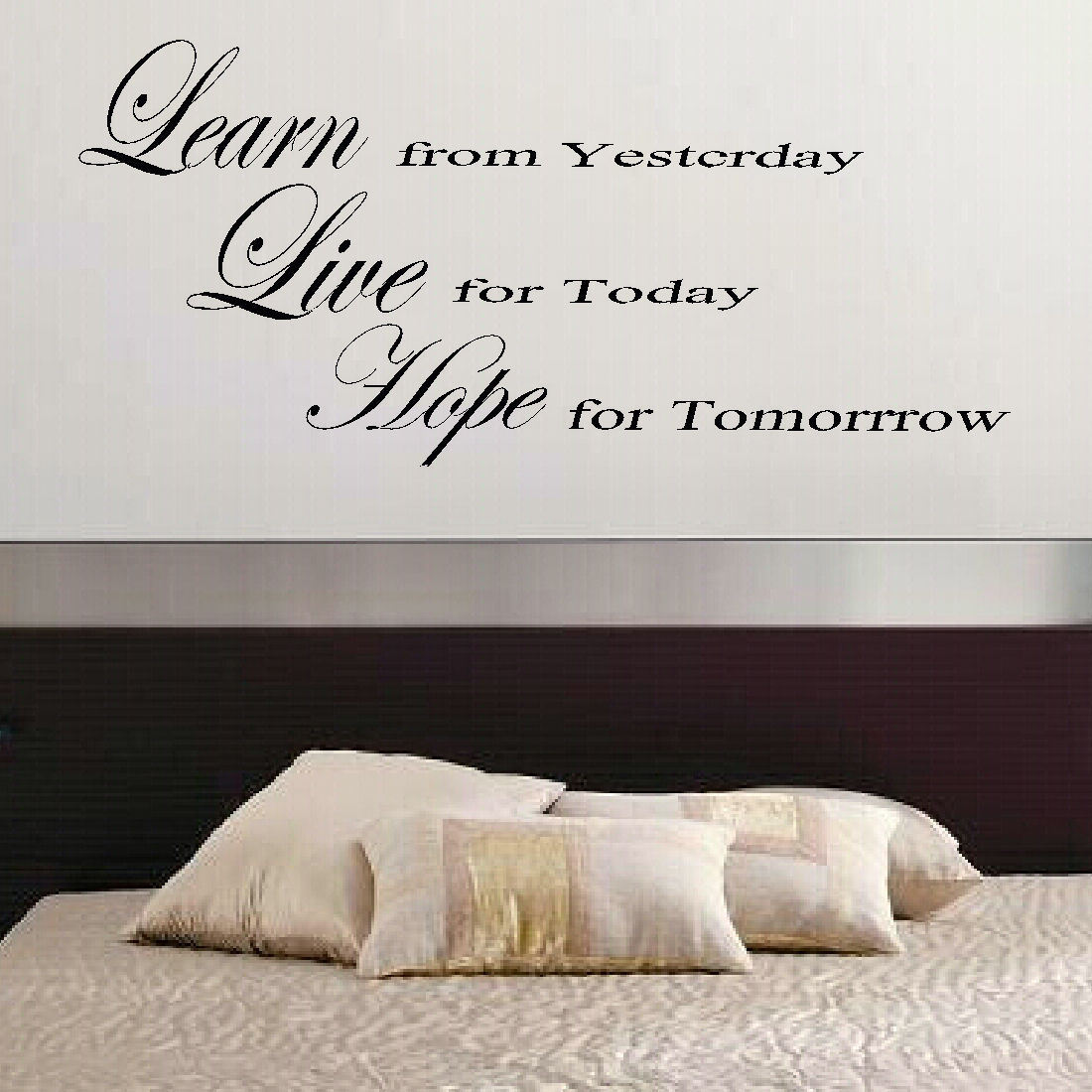 Large Quote Live Hope Bedroom Wall Mural Art Sticker Graphic Decal Matt Vinyl Bespoke Graphics
