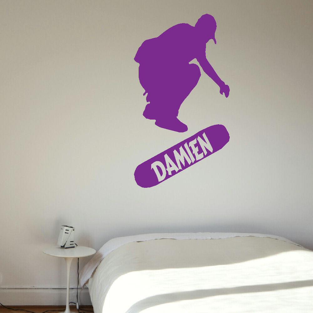 Personalised Skateboard Large Childrens Bedroom Wall Mural