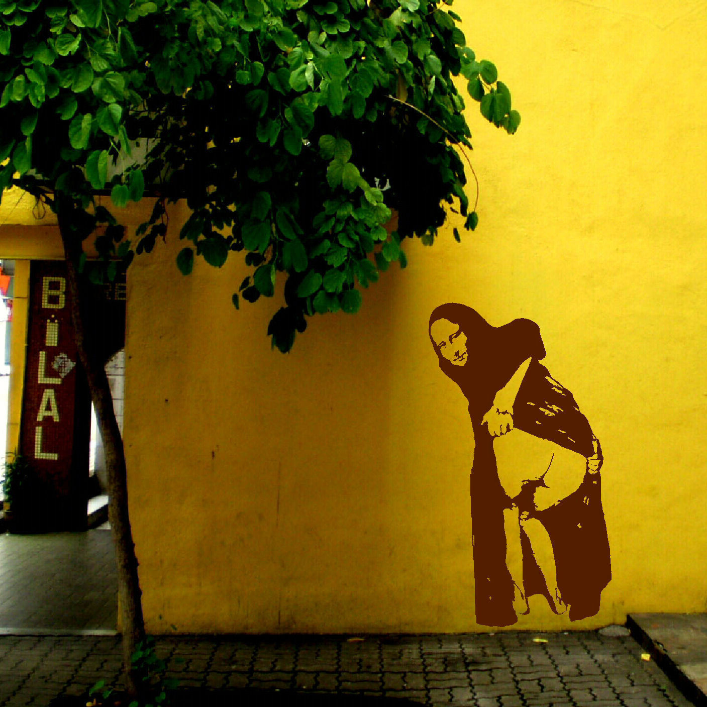 Large-wall-sticker-Banksy-Street-Art-Naughty-Mona-Lisa-Mooning-Matt ...